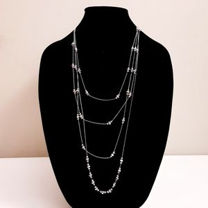 🍒 Multi strands faceted beaded necklace
